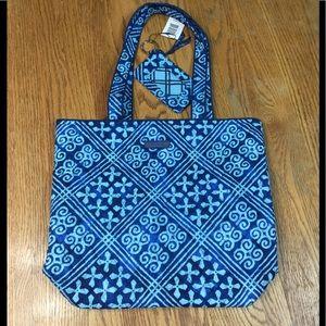 Vera Bradley Cuban Tiles Tote Bag & ID Key Wallet